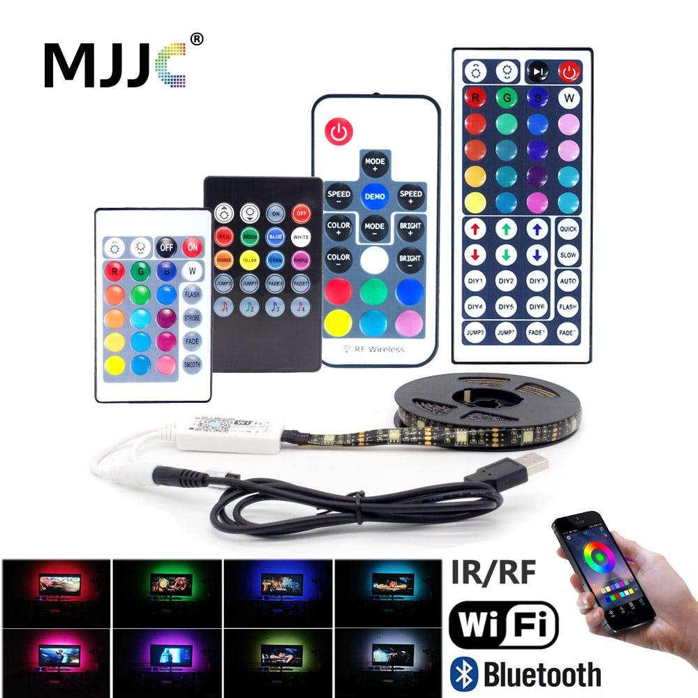 Tira de luces LED con USB, cinta RGB de 5V, Wifi, resistente...