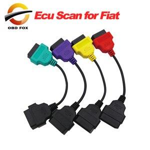 Image 1 - Для Fiat ECU 6/4/3 шт. кабели для FIAT ECU Scan & Multiecuscan Adapter OBD2 коннектор диагностический адаптер кабель Бесплатная доставка