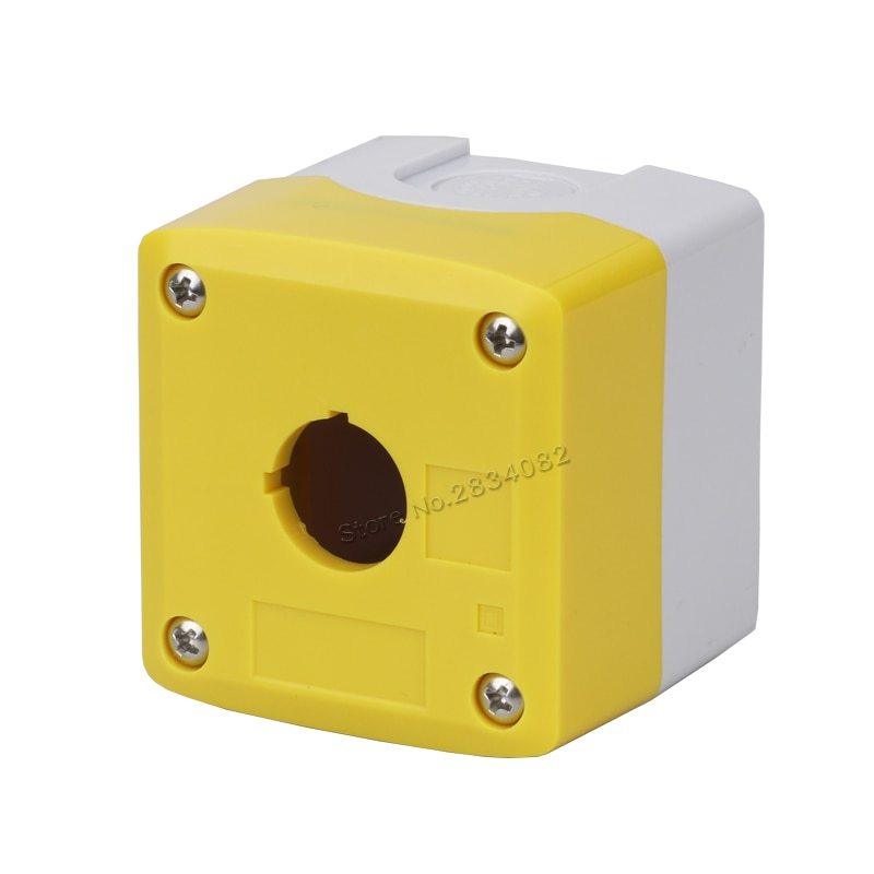 65,5*71*75,5 22mm interruptor de botón de empuje caja de champiñón parada de emergencias botón caja 1 Agujero selector interruptor de llave de la Caja 1-22
