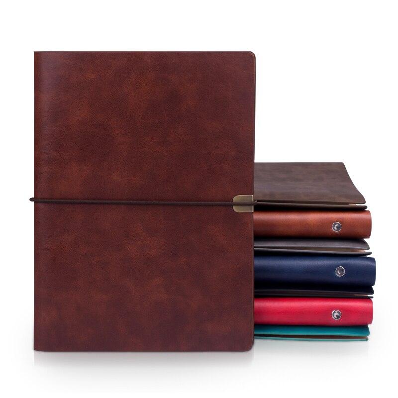 Ruize vintage b5 caderno capa diário de viagem diário a5 couro espiral caderno planejador 6 anel binder nota livro agenda 2020