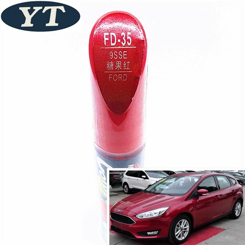 Pincel de reparación de arañazos de coche, bolígrafo de pintura automática de color rojo para Ford ecosport, kuga, focus, s-max, fiesta, marcador de pintura de coche