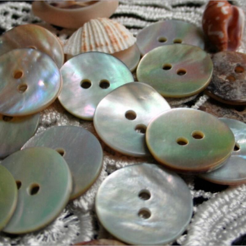100 Uds. Botones de costura de concha Natural Color Japón mopa de perla Botón de concha redonda accesorios de costura 2 agujeros 10mm