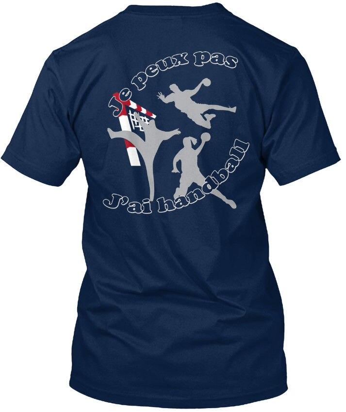Горячая Распродажа 2019 модная футболка унисекс (S-5XL) с коротким рукавом Je Peux Pas Jai Handball S Standard