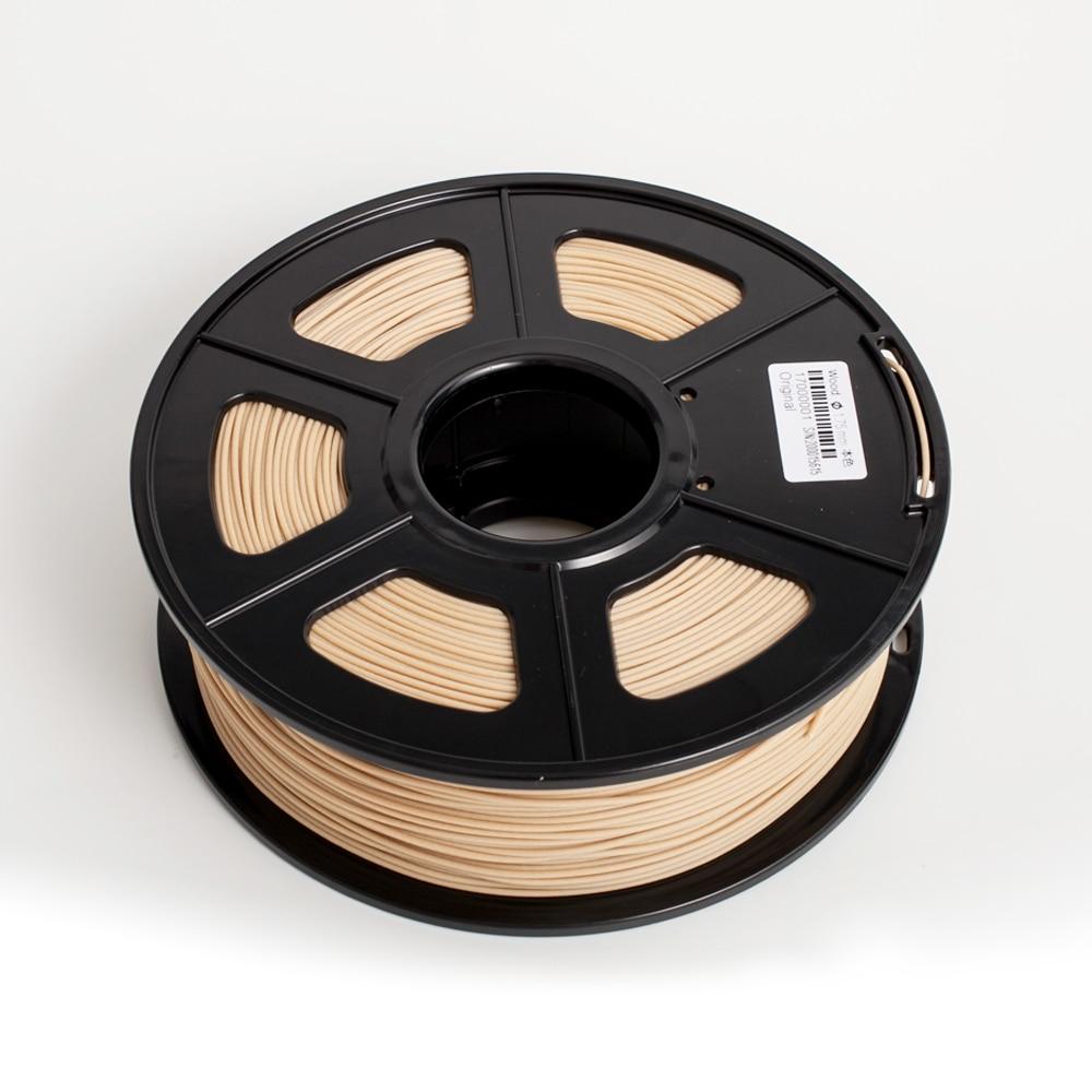 خيوط خشبية PLA للطباعة ثلاثية الأبعاد ، 1 كجم ، 1.75 مم ، تحمل 0.02 مللي متر وبدون فقاعة