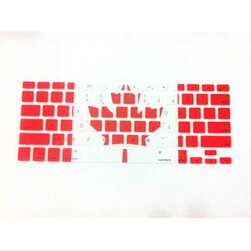 Canada FLAG Maple Leaf Flag Silicone Keyboard Cover Skin for Macbook Pro Air Retina 13 15 17 US KEYBOARD LAYOUT