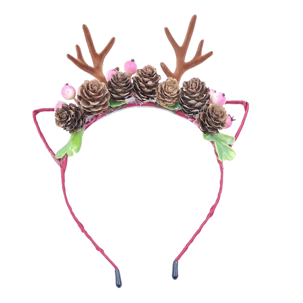 10Pcs/lot Antlers Floral Crown Headbands Baby Girls Flower Hairband Tiara Unicornio Photography Props Kidocheese