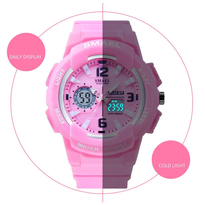 SMAEL Sport Watch Outdoor Fashion Couple LED Digital Quartz WirstWatch Waterproof Casual WristWatch for Men Women Teenager Clock enlarge