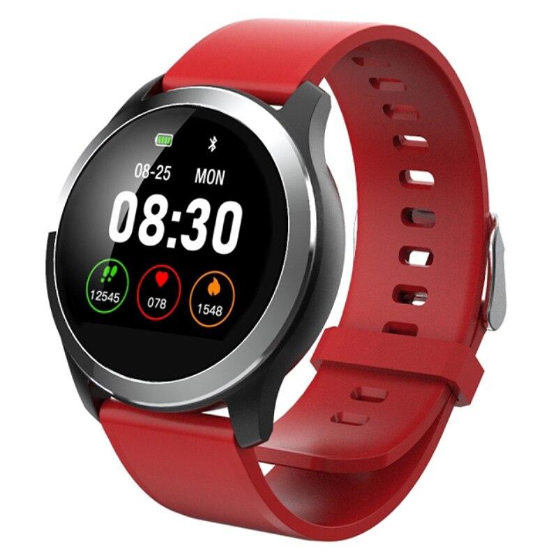 Reloj inteligente Z03 Ppg + ECG de presión arterial, rastreador de ritmo cardíaco, reloj deportivo inteligente, pulsera inteligente, rastreador de Fitness para Tezer (rojo)