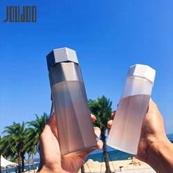 Joudoo 380ml criativo fosco garrafa de água tour esporte ao ar livre escola à prova de vazamento garrafa de água selo plástico drinkware 47