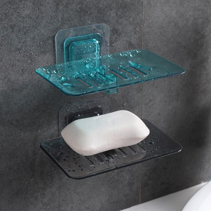 1 шт. настенный держатель для мыла на присоске прочный креативный держатель для мыла без дырочек аксессуар для ванной