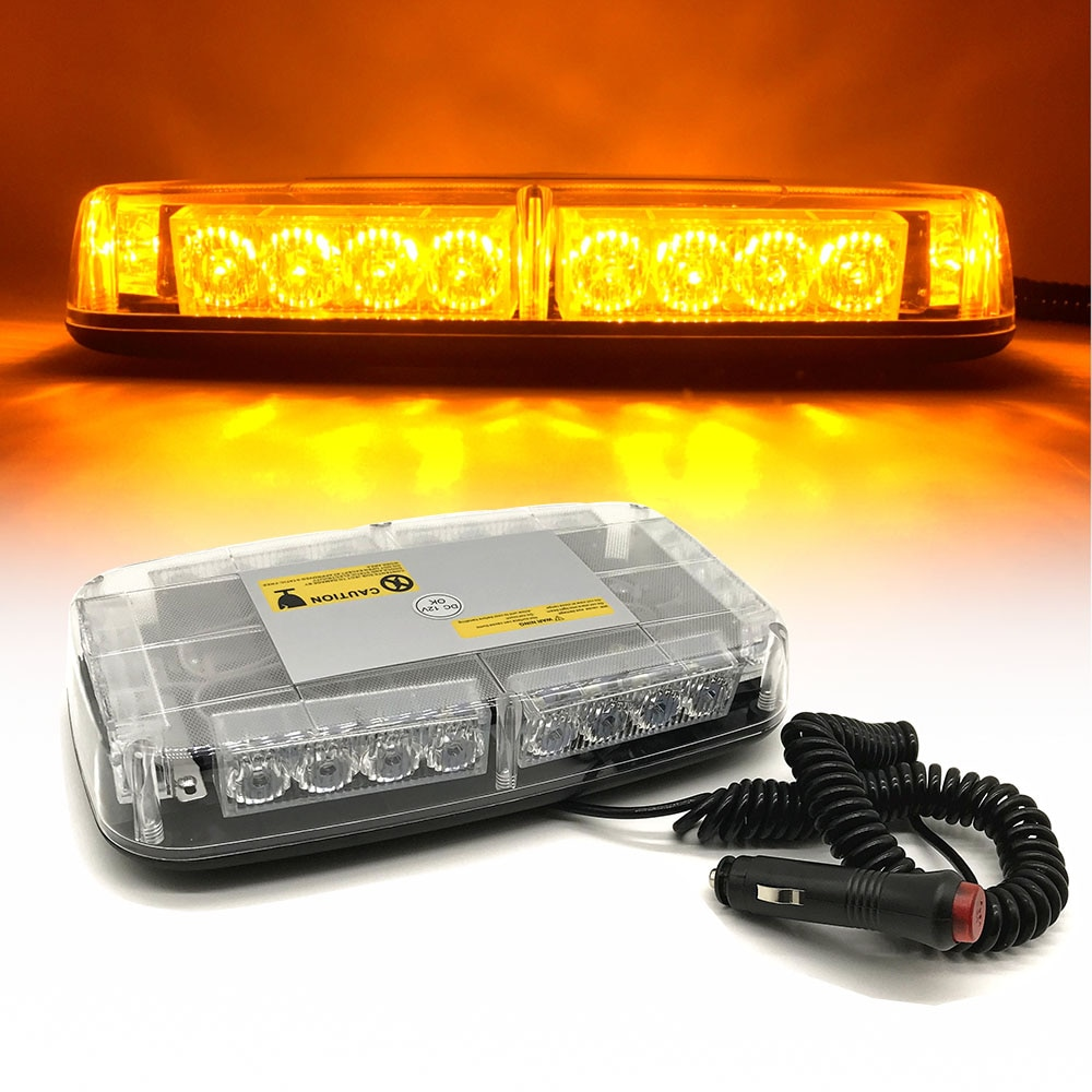 24 مصباح LED وامض لسقف السيارة ، مصباح تحذير للطوارئ ، سيارة شرطة ، شاحنة إطفاء ، ضوء فلاش ، منارة DC12V