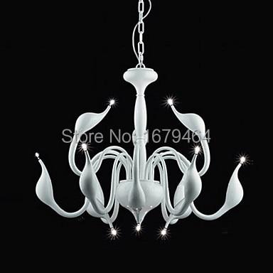 Factory direct sales Swan Design Chandelier, 12 Light, Creative Golden Metal Electroplating 110-240V  - buy with discount