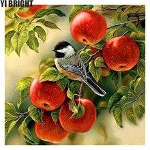 5D DIY diamant stickerei frühling vögel in apple baum diamant malerei kreuz Stich bohren voll Strass mosaik dekoration