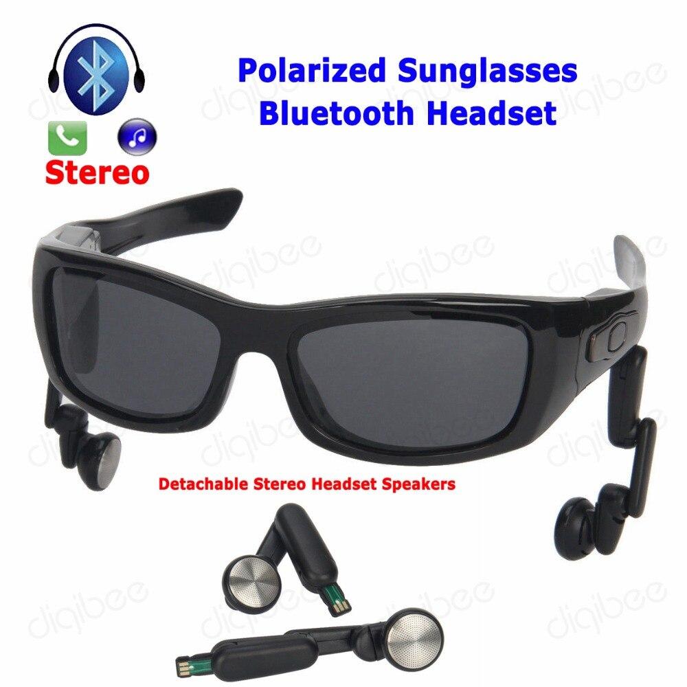 Armazón resistente TR90, gafas de sol polarizadas UV400, auriculares Bluetooth, auriculares estéreo desmontables, auriculares inalámbricos de alta fidelidad para Smartphones