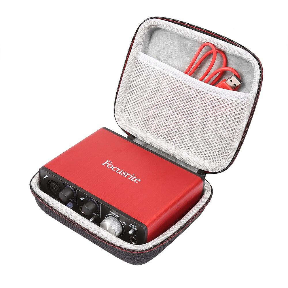 EVA duro cubierta de viaje Estuche portátil para Focusrite Scarlett Solo (2nd gen) 2 entrada 2 salida de interfaz de Audio USB tarjeta de sonido nuevo