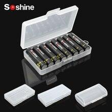 Soshine 6 różnych Elistooop obudowa z tworzywa sztucznego uchwyt do przechowywania pokrywa skrzynki dla AA AAA opakowanie na baterie torba pojemnik Case organizator Box Case