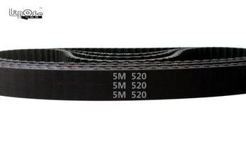 5pc HTD5M belt 520-5M-15 Teeth=104 Length=520mm Width=15mm 5M timing belt rubber closed-loop belt 520-5M S5M Belt 5M Pulley