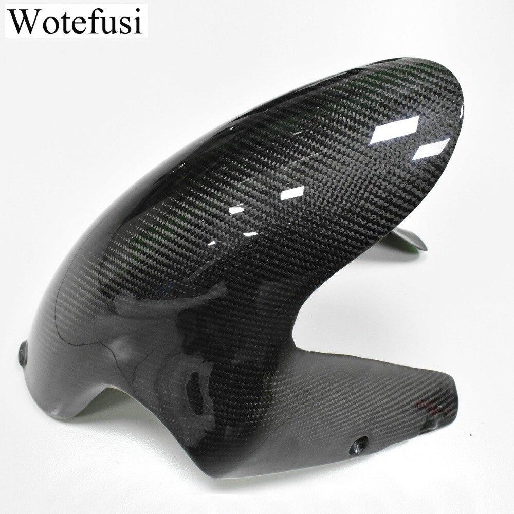 Wotefusi-panneau décran pour Ducati   En Fiber de carbone, carpette avant pour Ducati 1098/848 2007 2008 2009 noir [PA512]