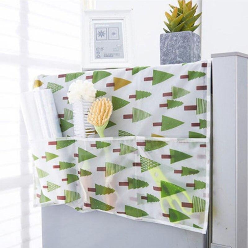 NUEVA cubierta impermeable del polvo del refrigerador del hogar con la bolsa de almacenamiento para la limpieza de cocina accesorios de la máquina suministros