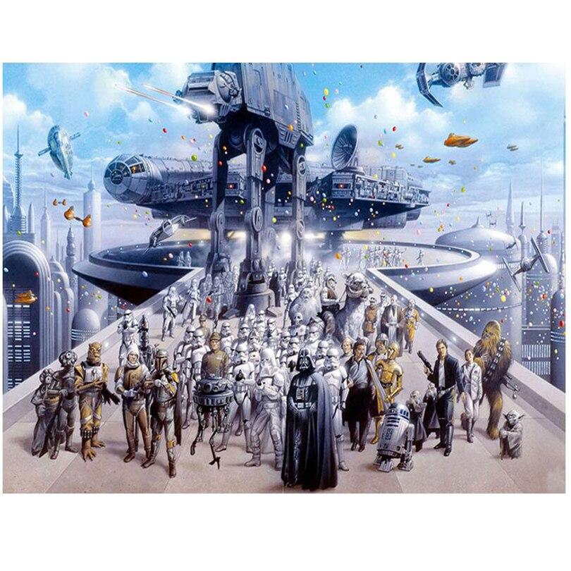 diamond embroidery mosaic Star Wars Film 5D Diamond Painting Cross Stitch full Square Rhinestones Mosaic Home Decor JS2011