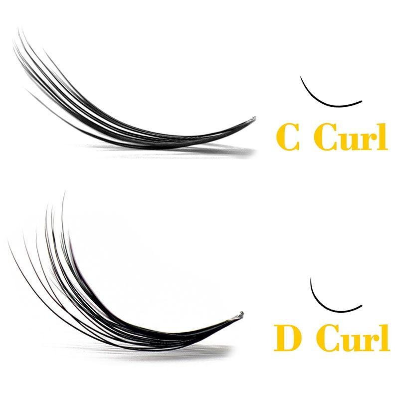 Kimcci Natural Soft False Eyelash Extension Deluxe Lashes VOLUME Flase Eyelashes Fans 3d Eyelashes Makeup 20D Grafting Cilias