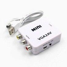 1080P HDMI Mini VGA RCA AV dönüştürücü ile 3.5mm ses VGA2AV / CVBS + ses PC HDTV dönüştürücü #2