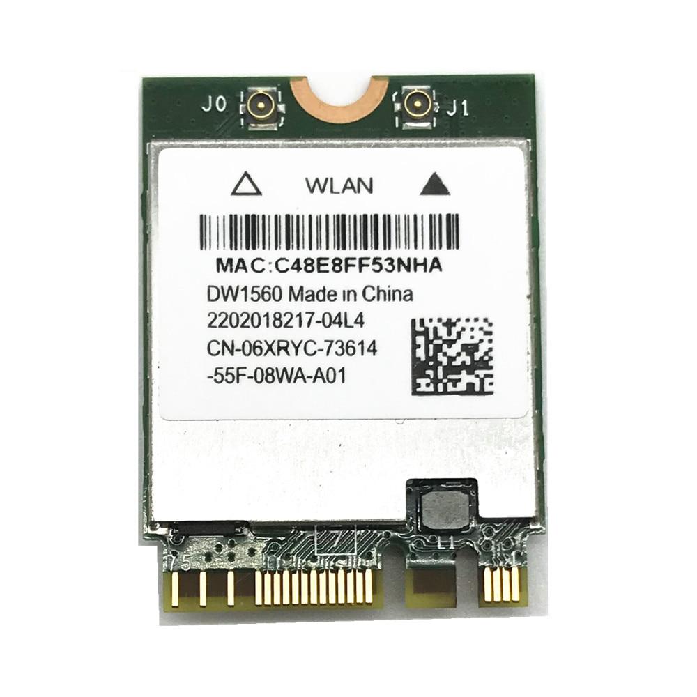 Карта беспроводного адаптера для Hackintosh dell DW1560 BCM94352Z NGFF M.2 WiFi WLAN Bluetooth 4,0 802.11ac 867 Мбит/с Карта BCM94352