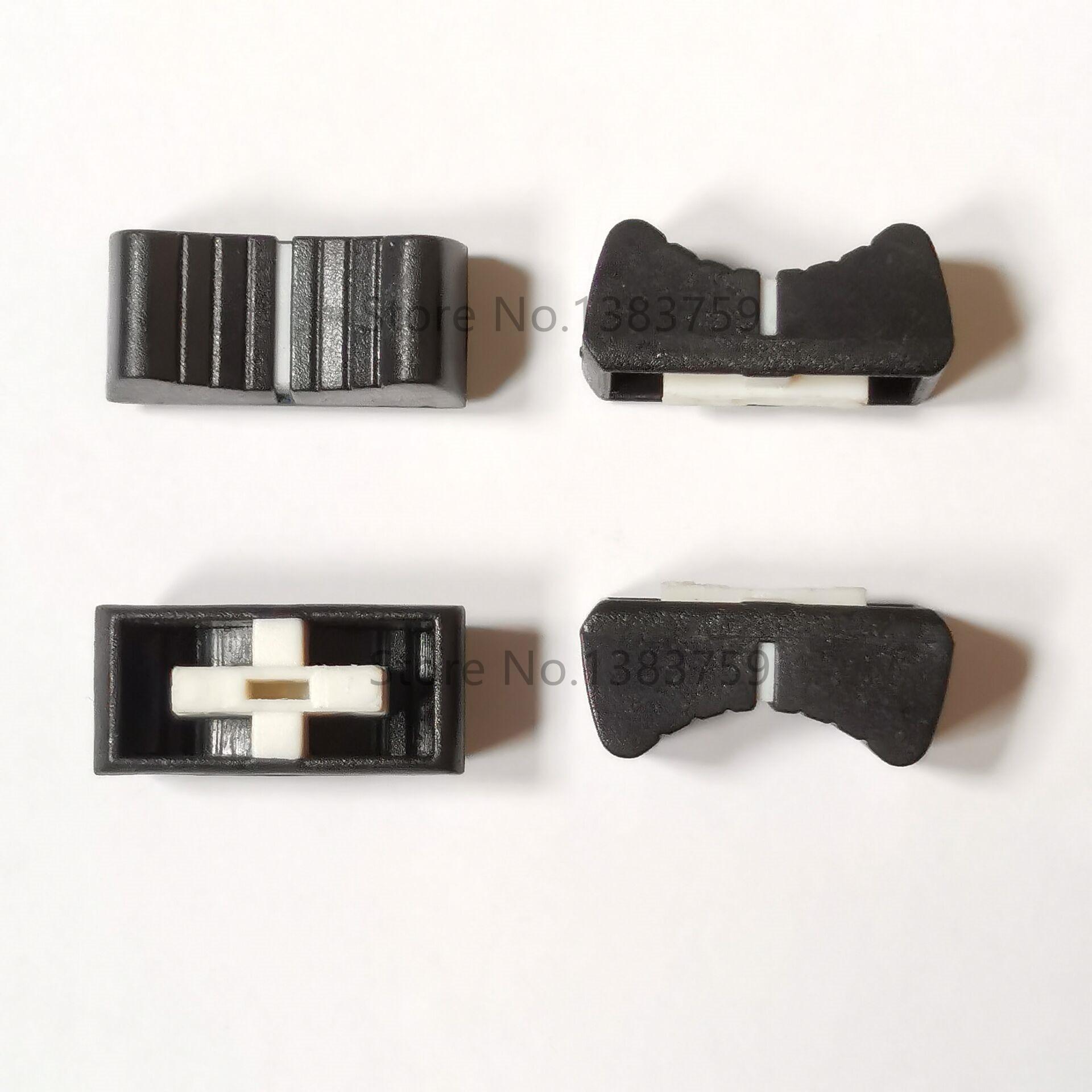 10pcs Misturador de slides potenciômetro chapéu combinando 24*11*11MM reta potenciômetro de slides fader cap haste tampa do furo interno 4*1.5MM
