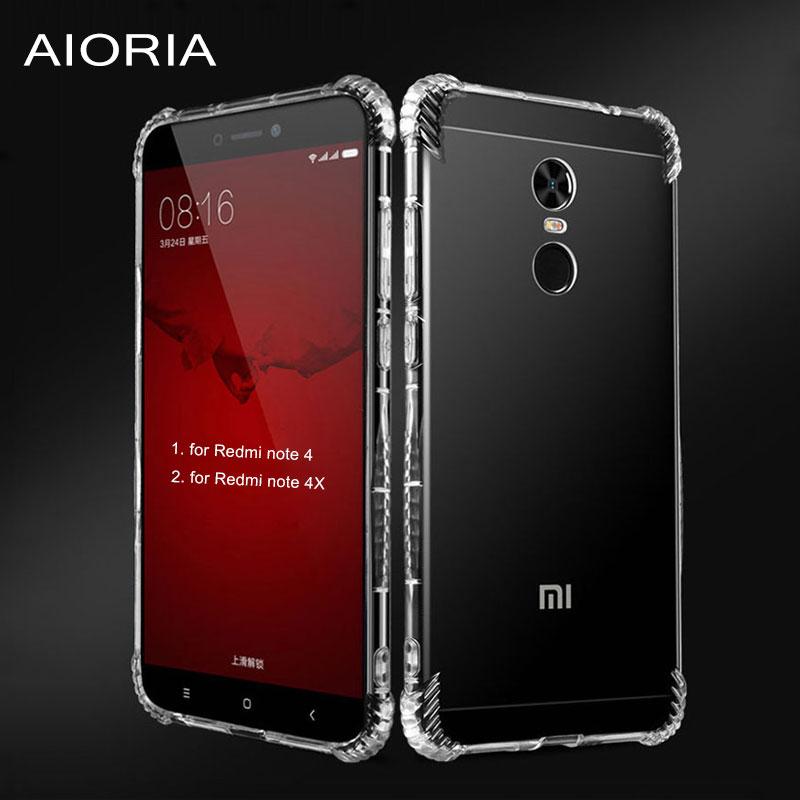 AIORIA coque fundas fall für Xiaomi Redmi hinweis 4 4X Air sac Perfekte schutz 1,2mm dicke klar TPU material abdeckungen