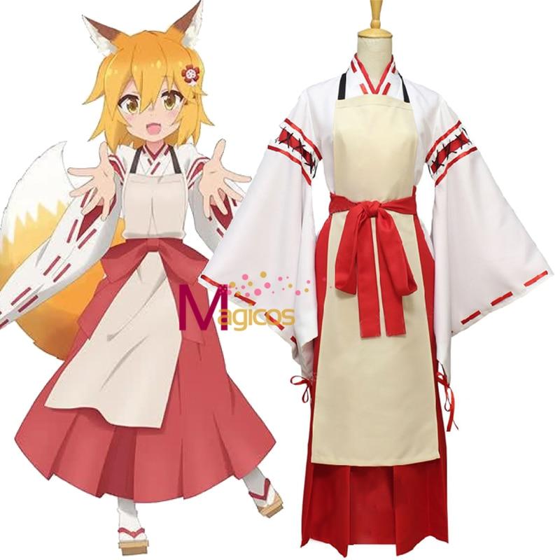 Disfraz de Anime The Helpful Fox senko-san Sewayaki Kitsune no Senko san, disfraz de Halloween hecho a medida para mujeres