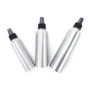 1PCS 120ml 150ml 250ml Aluminium Black Pump Atomizer Spray Bottle Refillable Empty Bottles For Cosmetic Packaging Tool