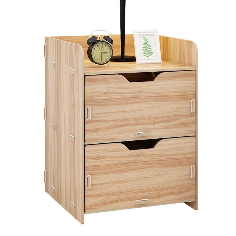 1 LK600 Cheap Multilayer Nightstands Portable Lightweight Storage Cabinet  15kg Load-bearing Bedside Table 29*30*40cm
