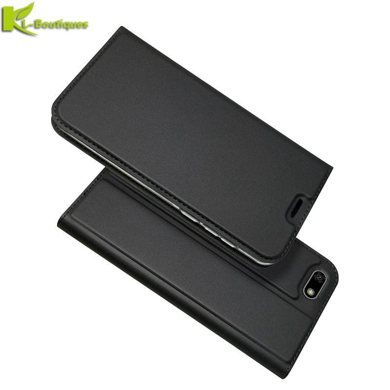 Funda de cuero Huawei Honor 7A para Huawei Honor 7A versión rusa, funda de DUA-L22, funda de teléfono tipo billetera con imán de 5,45 pulgadas