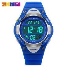 SKMEI montres enfants alarme chronomètre étanche natation LED montre numérique pour garçon filles étudiant montres