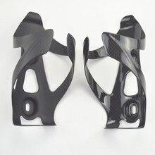 Nuove gabbie della bottiglia del carbonio parti di biciclette supporto di bottiglia della bici 3 k gloss finitura opaca mtb bici da strada parti 2 pz/lotto
