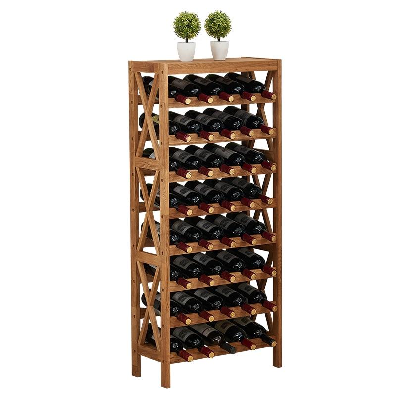 Modern Wooden Wine Rack Cabinet Display Shelf Bar Globe for Home Bar Furniture Oak Wood 25-40 Bottles Wine Rack Holders Storage недорого