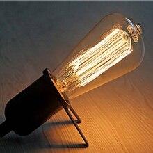 vintage 1910 edison st64 filament bulbs bulb wedding dress kitchen women e27 screw lamp wedding art fitting