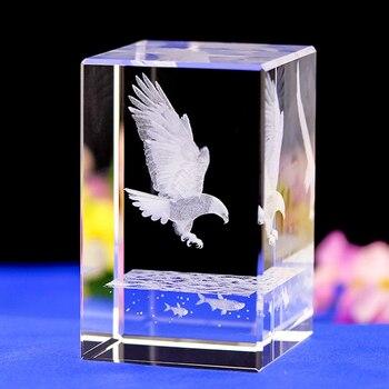 Орел лазерной гравировкой кристалл ночник мир голубь форма Кристалл светодиодный свет с изменением цвета свет база удивительные подарки