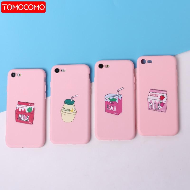 Strawberry WaterMelon Banana Juice Milk Soft Silicone Matte Case Fundas Coque For iPhone 11 6 6S 5 SE 8 8Plus X 7 7Plus XS Max