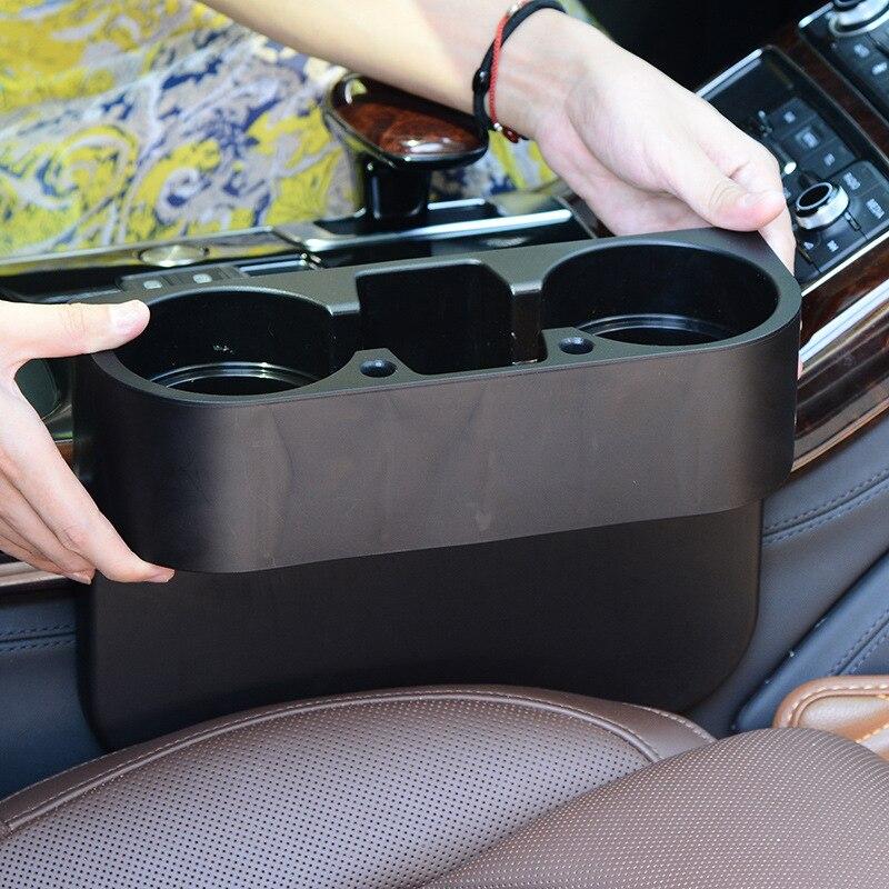 Soporte de montaje de coche soporte de taza soporte lateral de asiento Auto giratorio de viaje bebidas taza de café Mesa soporte de montaje de vehículo estante de montaje de taza