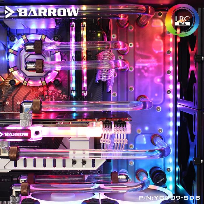 بارو YG909-SDB ، لوحات الممر المائي لعلبة INWIN 909 ، لبناء كتلة المياه وحدة المعالجة المركزية إنتل/وحدة معالجة الرسومات المزدوجة/مضخات