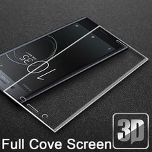 9 H 3D verre trempé LCD incurvé plein écran protecteur couvercle de protection pour Sony Xperia XA XA1 XA2 Ultra PLUS double film de protection