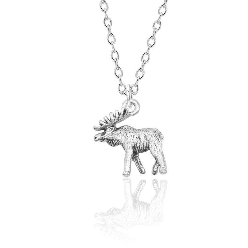 Moda simples colar feminino elk antlers pingente liga charme jóias presentes bonitos para festa