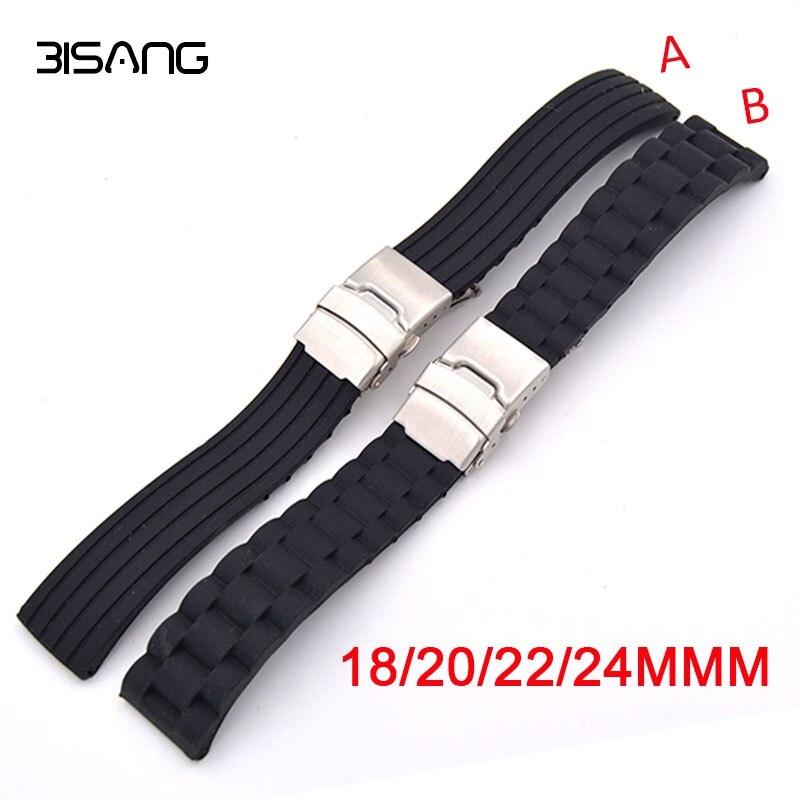 18mm 20mm 22mm 24mm silicona correa de goma para reloj para Casio BEM 302, 307, 501, 506, 517 EF serie MTP seguridad correa de la hebilla + herramientas