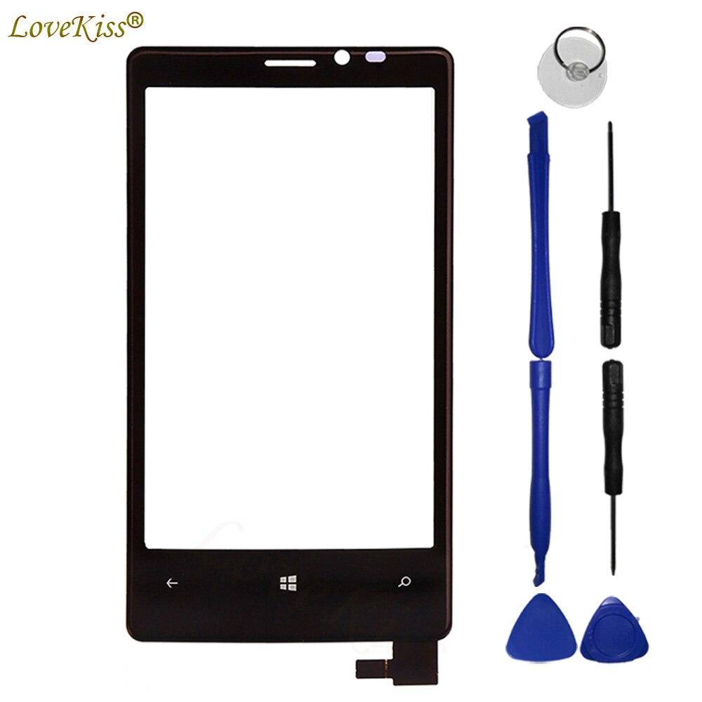 N920 Panel frontal para Nokia Lumia 920 N920 Sensor de pantalla táctil LCD pantalla digitalizador cubierta de cristal pantalla táctil TP herramientas de repuesto
