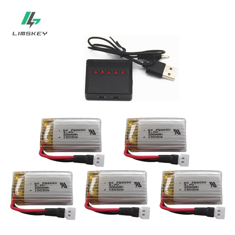 3,7 V 300mAH cargador de pilas recargables conjuntos para Udi U816 U830 F180 E55 FQ777 FQ17W Hubsan H107 Syma X11C FY530 batería Lipo
