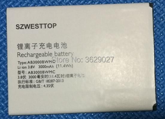 SZWESTTOP original AB3000BWMC batería para teléfono móvil philips I928 batterbatterie para teléfono inteligente XENIUM CTI928