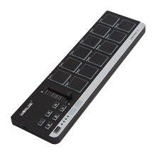 Worlde EasyPad.12 Trommel Pads MIDI Controller Tragbare Mini MIDI Tastatur Controller mit USB Kabel