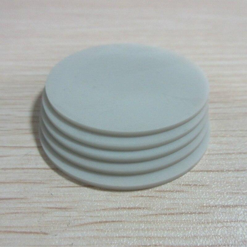 Pieza de cerámica redonda de nitruro de aluminio, pieza de cerámica de diámetro 45mm x 2mm, pieza de cerámica personalizada
