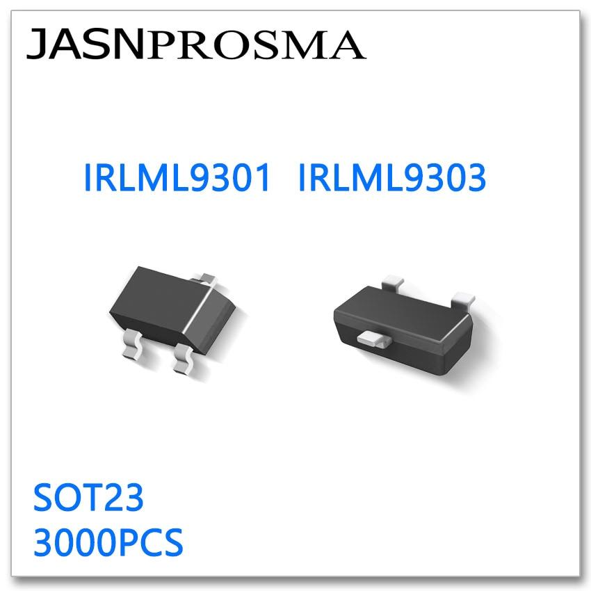 JASNPROSMA IRLML9301 IRLML9303 SOT23, 3000 قطعة P-قناة 20 فولت 30 فولت ، جودة عالية صنع في الصين IRLML 9301 9303